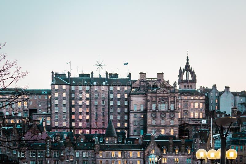 爱丁堡,苏格兰大厦和房子  库存图片