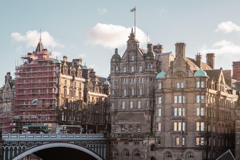 爱丁堡,苏格兰大厦和房子  免版税库存图片