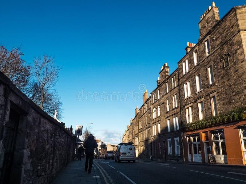爱丁堡,苏格兰2月26日, 2016爱丁堡镇,苏格兰,英国 免版税库存图片