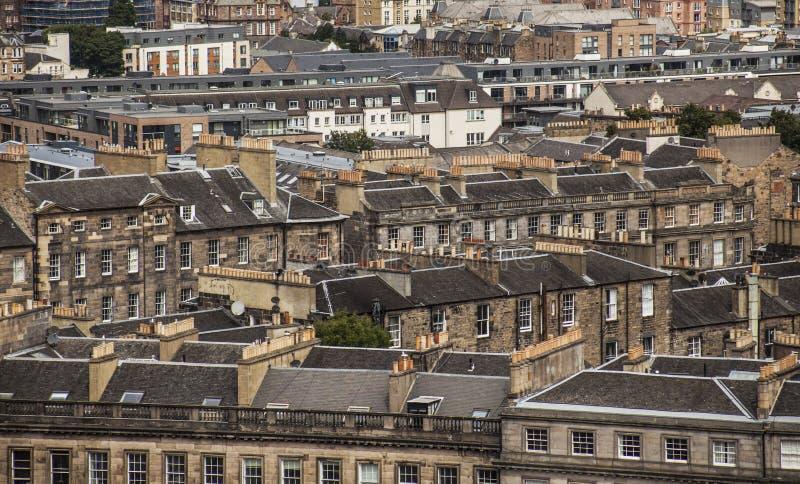 爱丁堡,苏格兰-老房子 库存图片