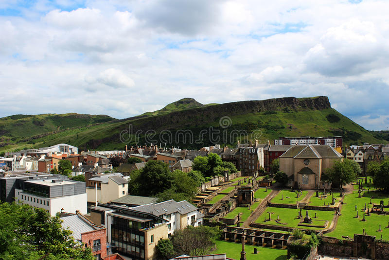 爱丁堡-亚瑟位子 免版税库存图片