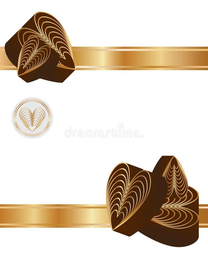 爱九巧克力丝带卡片 库存例证