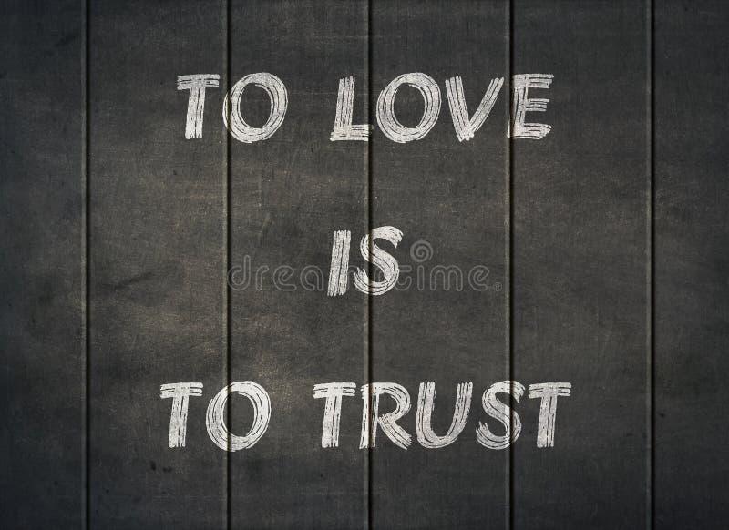 爱信任人诚实信念相信印刷术类型 库存图片