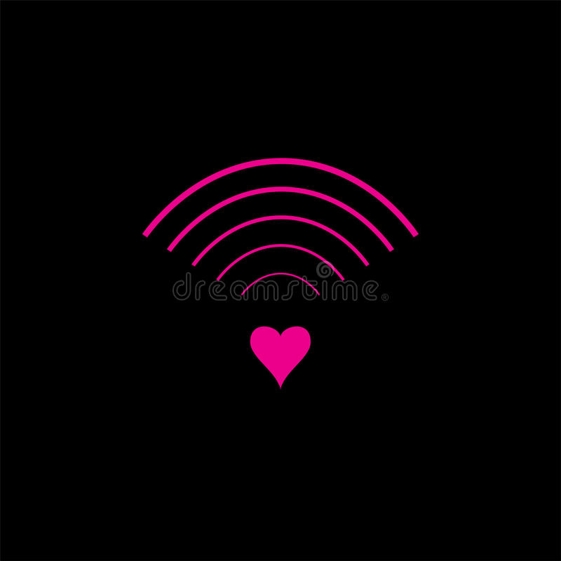 爱信号设计的商标和标志 向量例证