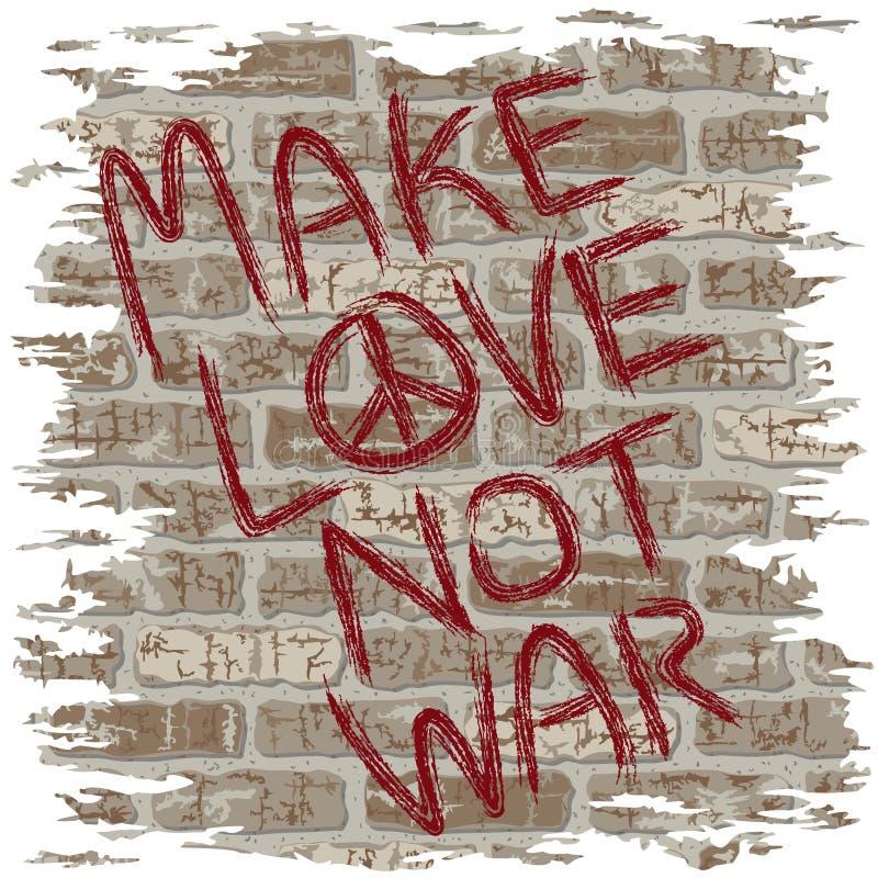 爱做不是战争 皇族释放例证