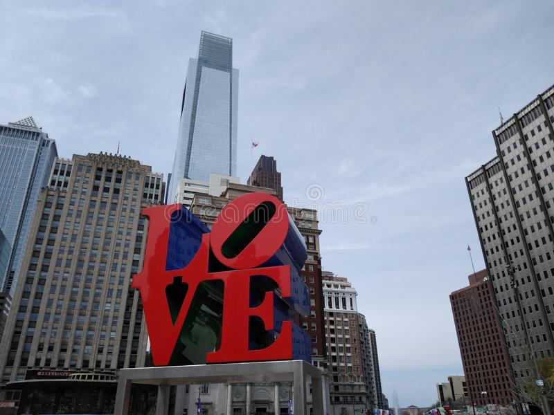 爱公园,约翰F 肯尼迪广场,费城,PA,美国 图库摄影