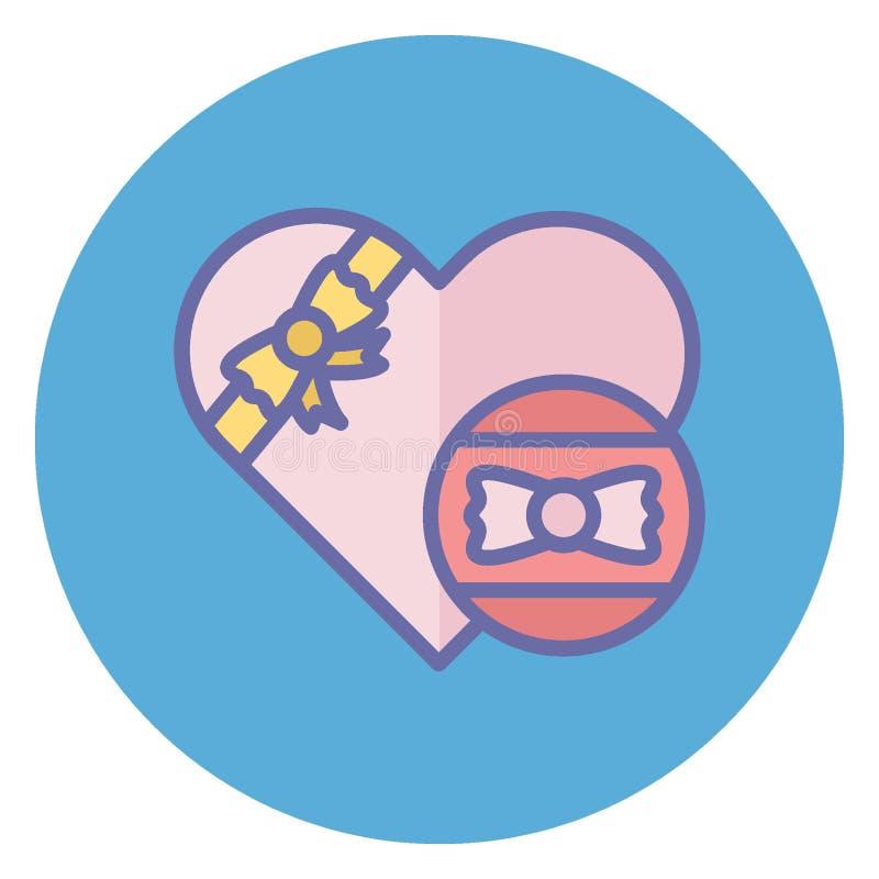 爱包裹,可爱的礼物隔绝了可能容易地修改或编辑的传染媒介象 皇族释放例证