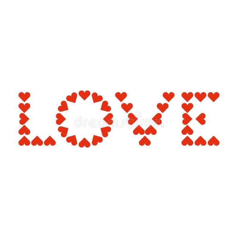 爱印刷术 心脏印刷术 创造性的爱略写法 从心脏的信件 向量例证