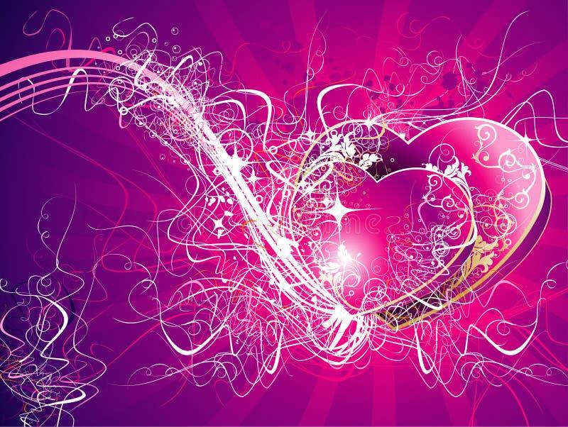 爱向量 库存例证
