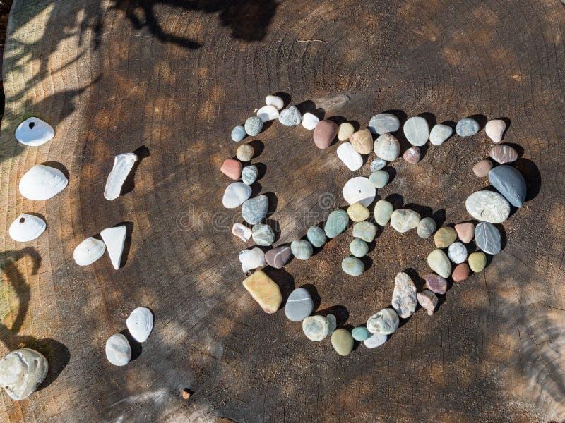 爱和和平岩石显示 免版税库存图片