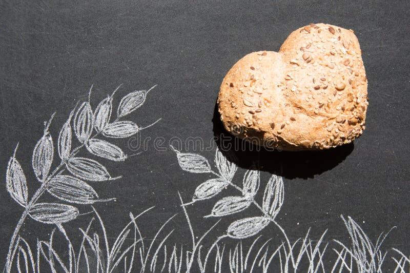 爱和激情全麦面包的 免版税库存图片