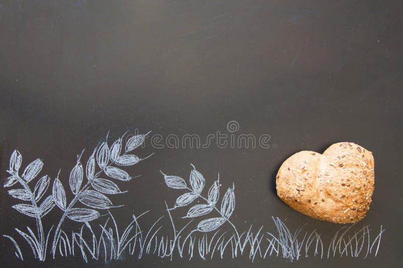 爱和激情全麦面包的 免版税库存照片