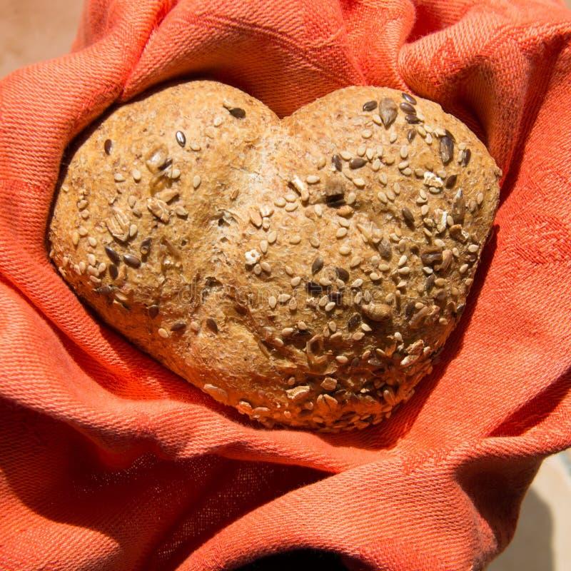 爱和激情全麦面包的 库存照片