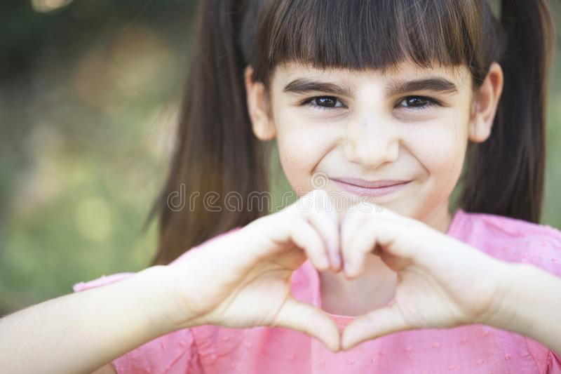 爱和童年概念 免版税库存图片