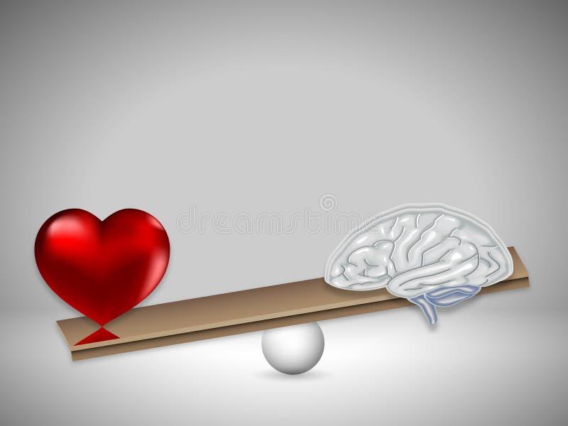 爱和金子在等级 向量例证