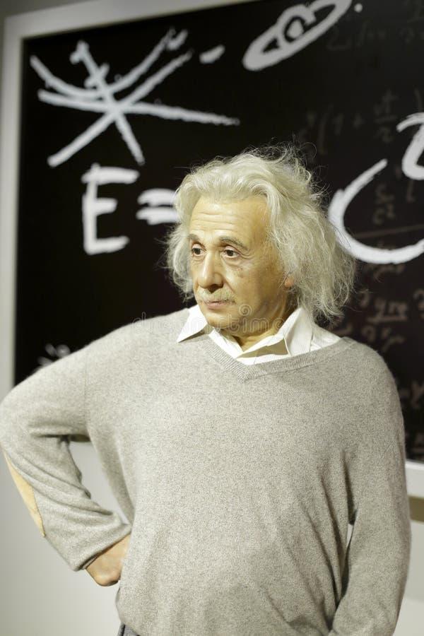 爱因斯坦在女士tussauds的蜡象 图库摄影