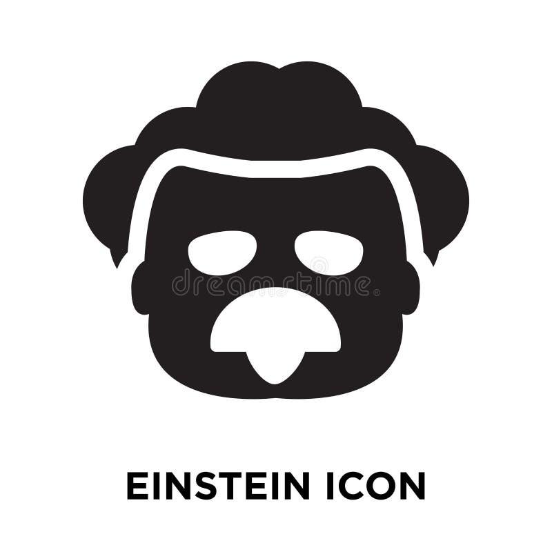 爱因斯坦在白色背景隔绝的象传染媒介,商标概念 皇族释放例证