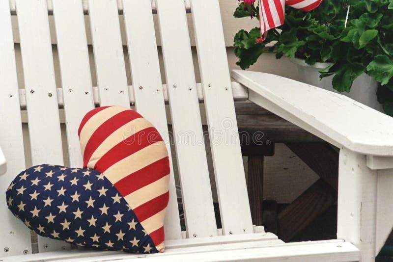 爱国椅子 免版税库存照片