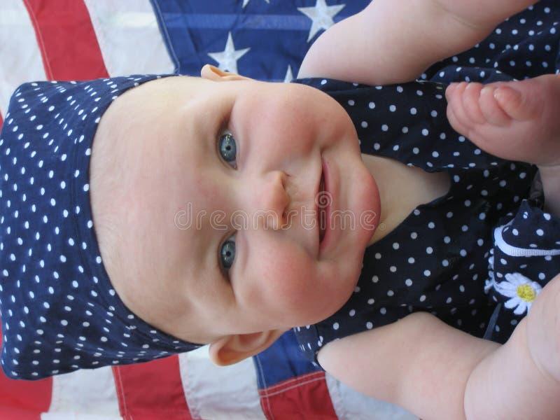 爱国的婴孩 库存照片