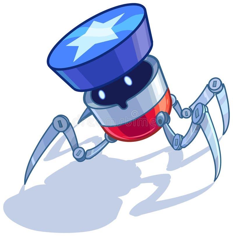 爱国美国臭虫机器人传染媒介动画片 库存例证