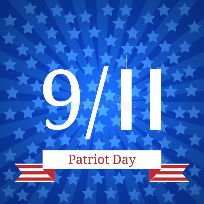 爱国者天在美国 9月11日 美国国庆节 皇族释放例证