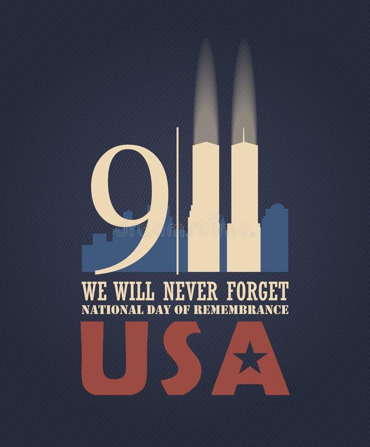 9/11爱国者天, 9月11日 向量例证