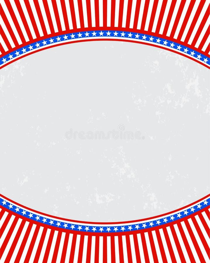 爱国背景美国美国旗子 库存例证