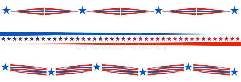 爱国边界分切器美国美国旗子 库存例证