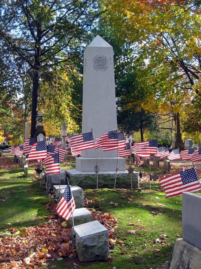 爱国2个墓地的纪念碑 库存图片