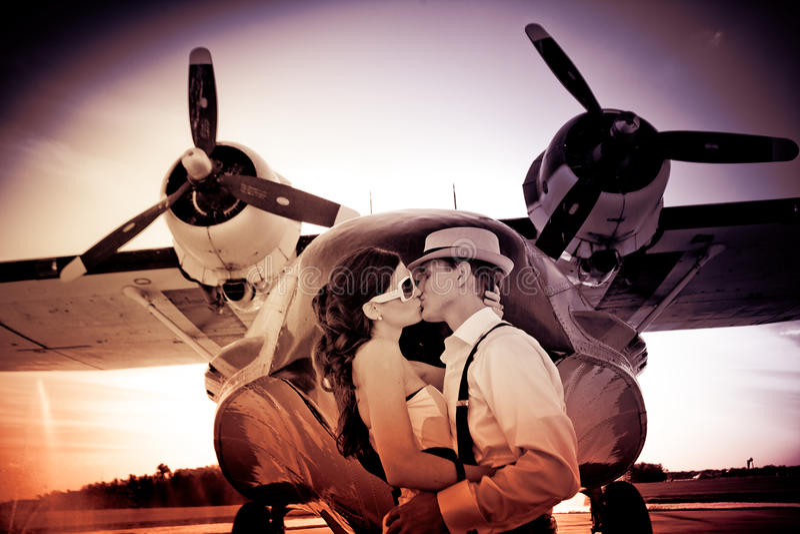 爱在天空中 库存照片