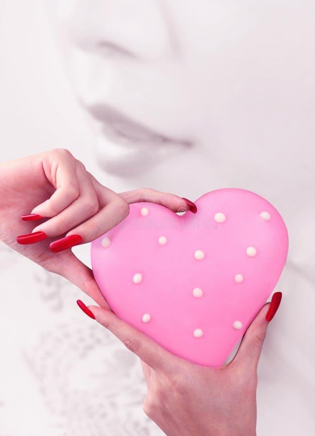 爱在手中 库存照片