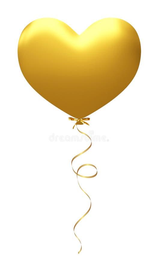 爱在白色隔绝的Baloon,轻快优雅心脏:红色华伦泰爱概念,情人节 ısolated 皇族释放例证