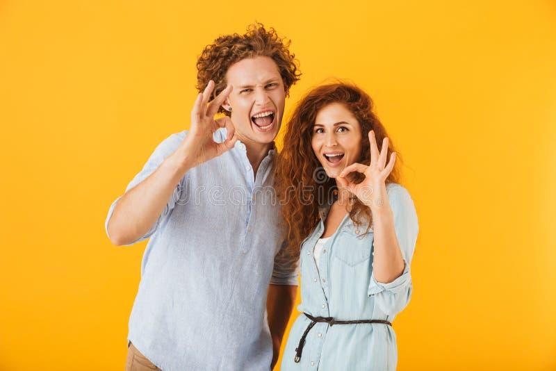 爱夫妇的激动的朋友 库存照片
