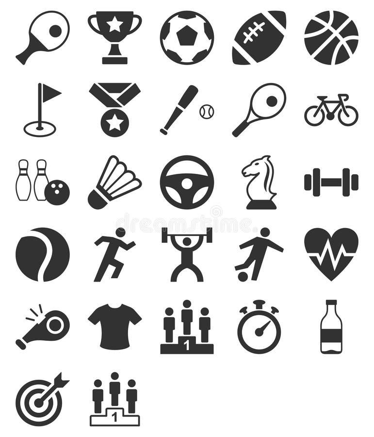爱好健美者图标剪影体育运动 向量例证