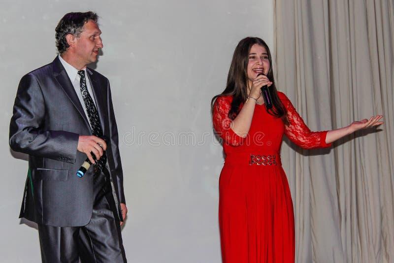爱好者每年音乐会在戈梅利地区 免版税库存图片