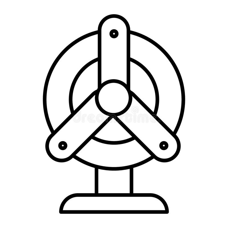 爱好者稀薄的线象 推进器在白色隔绝的传染媒介例证 通风设备计算机概述样式设计,被设计 皇族释放例证