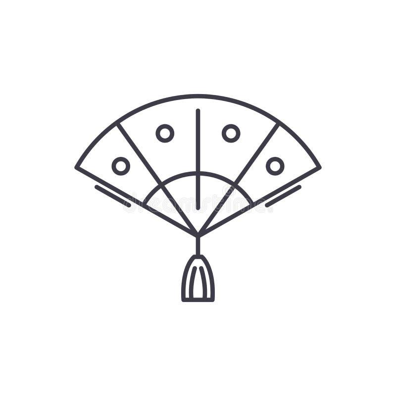 爱好者线象概念 爱好者传染媒介线性例证,标志,标志 库存例证