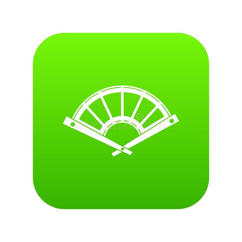 爱好者象数字式绿色 皇族释放例证