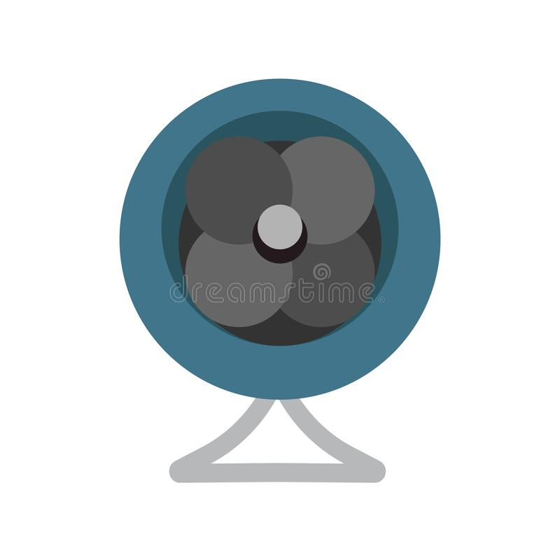 爱好者风空气设备设计标志传染媒介象技术 平的推进器冷却的通风设备吹风机辅助部件调节剂 库存例证