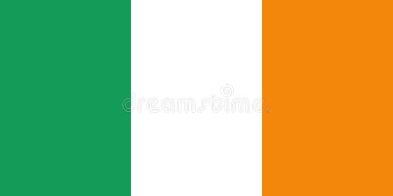 爱尔兰传染媒介旗子 皇族释放例证