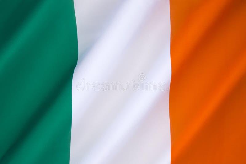爱尔兰共和国的旗子 图库摄影