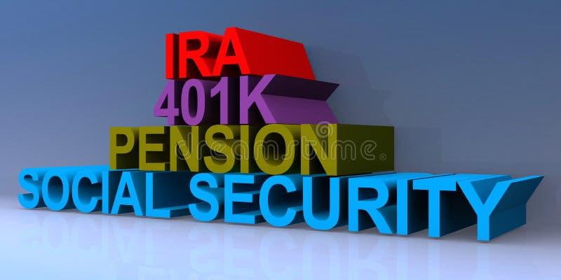 爱尔兰共和国401k养老金社会保障 皇族释放例证