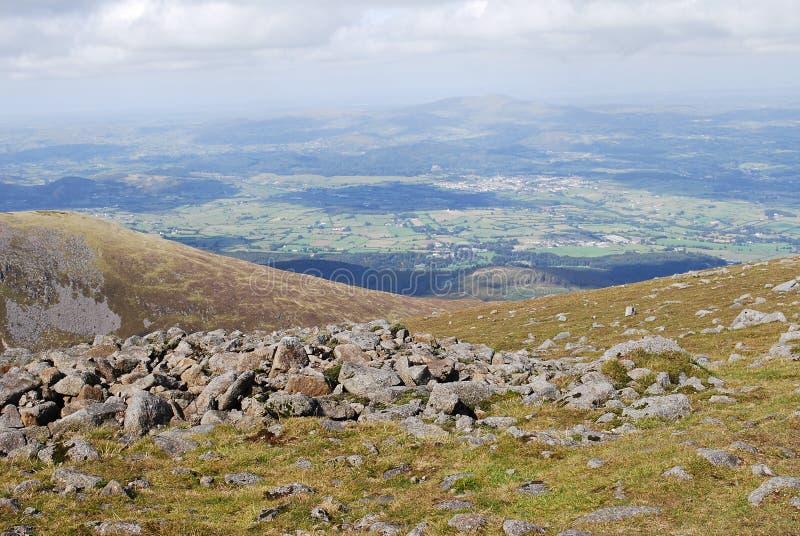 爱尔兰北山的mourne 库存照片