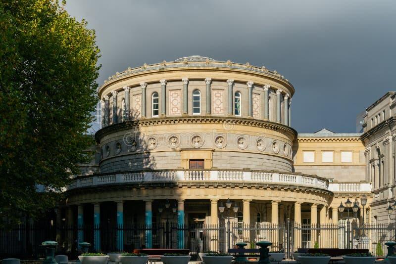 爱尔兰国家博物馆的外视图-考古学 免版税库存照片