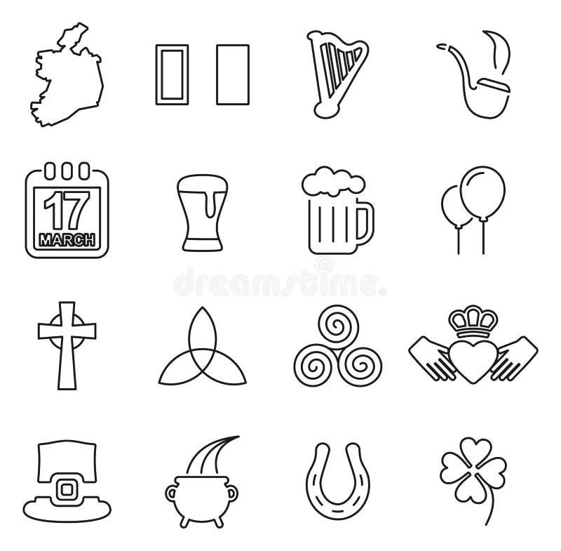 爱尔兰国家&文化象变薄线传染媒介例证集合 库存例证