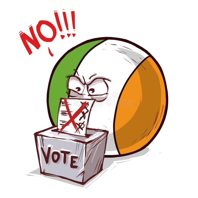 爱尔兰投反对票国家的球 向量例证