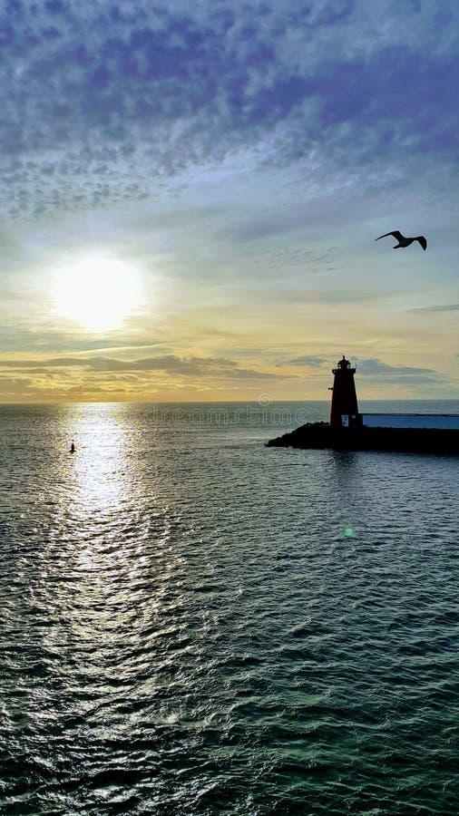 爱尔兰新的海 免版税库存照片