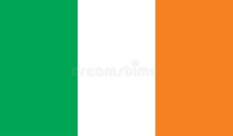 爱尔兰旗子图象 皇族释放例证