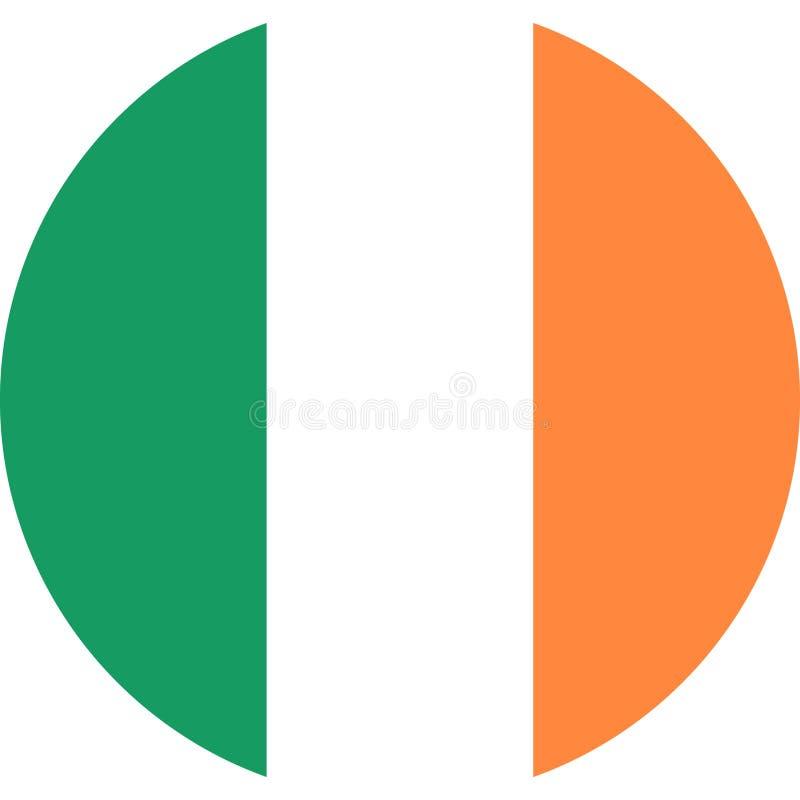 爱尔兰旗子欧洲例证传染媒介eps 皇族释放例证