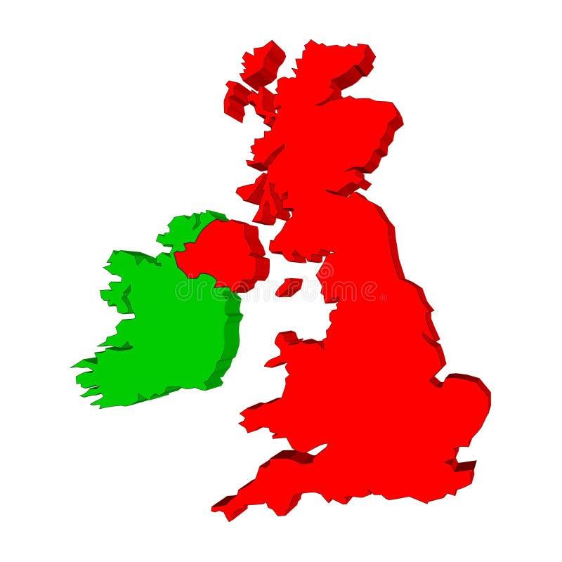 爱尔兰映射英国 皇族释放例证